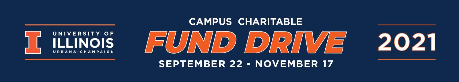 Campus Charitable Fund Drive September 22 - November 17, 2021